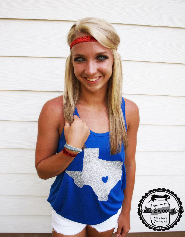 Glitter Texas Racerback Tank by TexasSweetTees on Etsy https://www.etsy.com/listing/221425044/glitter-texas-racerback-tank