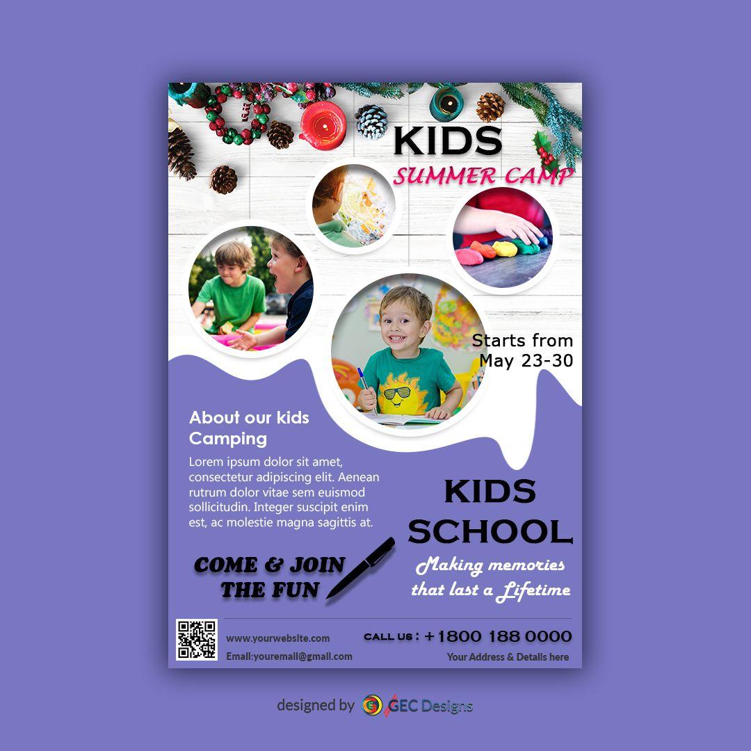 Download Free Flyer Templates Summer Camps For Kids Flyer Design