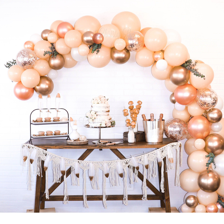 Balloon Garland Kit in Blush, Rose Gold and Gold Blush