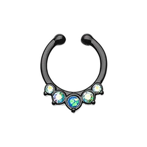 Colorline Opal Paradigm Fake Septum Clip-On Ring
