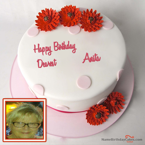 Happy Birthday Cake For Friend With Name Anita Advance Pavithra