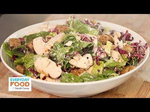 Buttermilk Chicken Caesar Salad Recipe Everyday Food With Sarah Carey Caesar Salad Recipe Martha Stewart Chicken Salad Recipe Chicken Caesar Salad