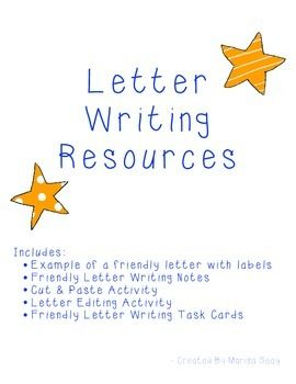 Friendly Letter Writing 4th Grade Writing Pinterest Writing