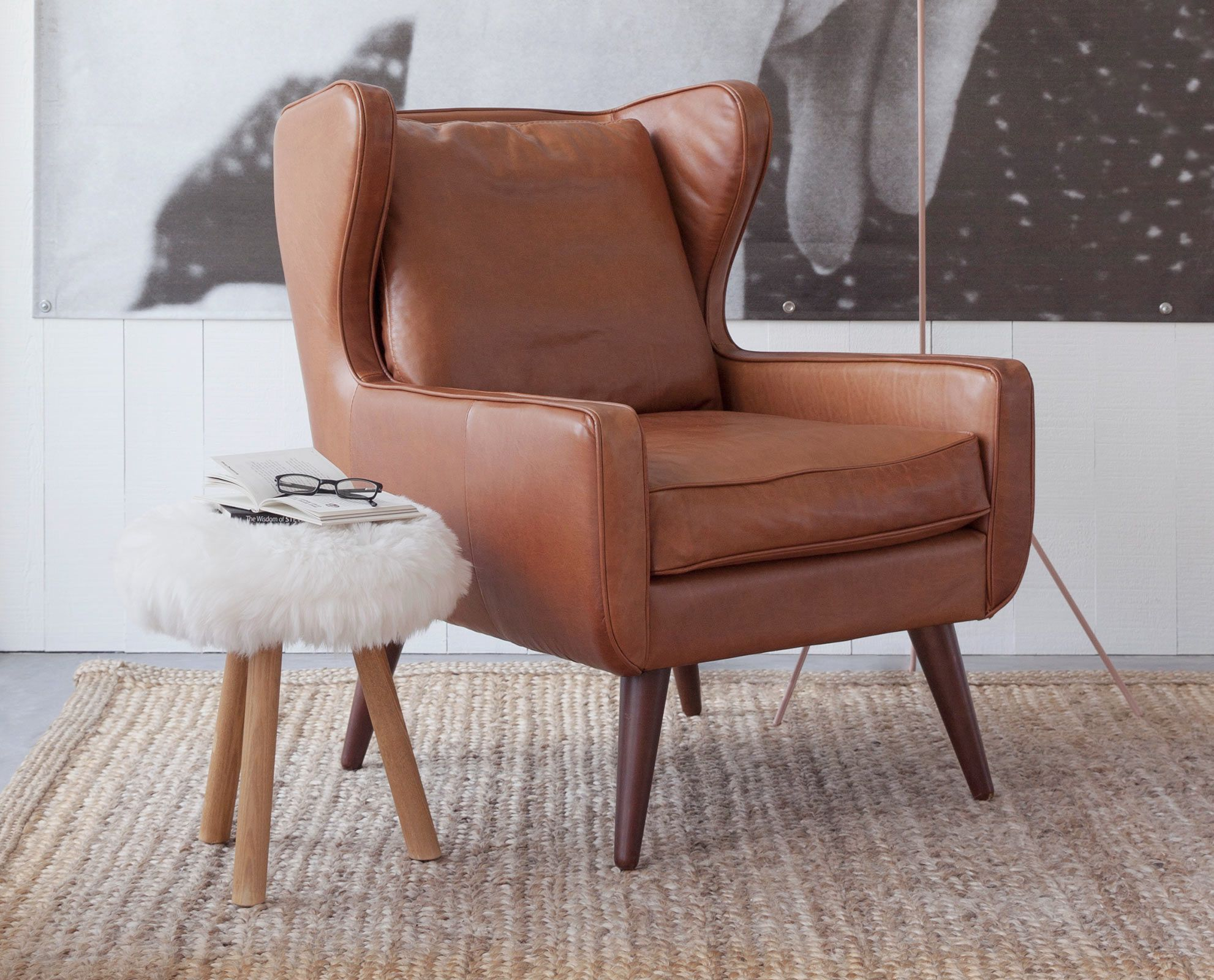 The Giesen Leather Chair from Scandinavian Designs leather chair