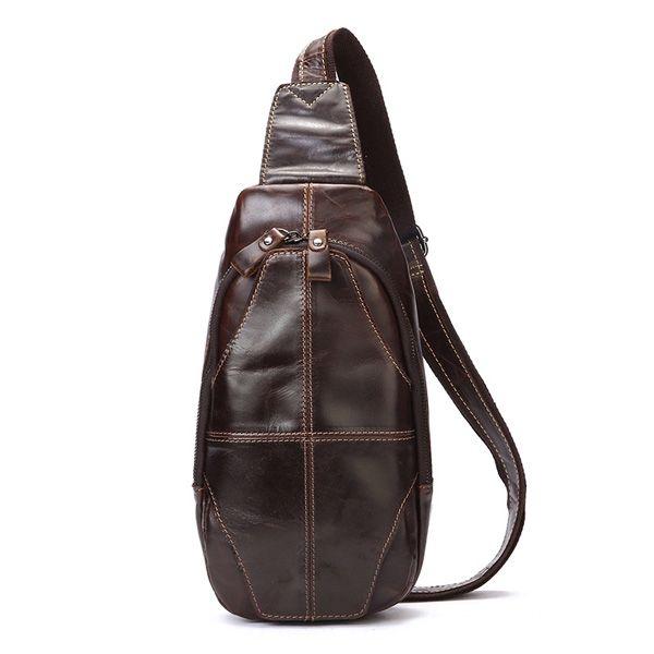3c3bed612e5 Sale 15% (36.99$) - Men Genuine Leather Crossbody Bag Outdoor Leisure Retro  Backpack