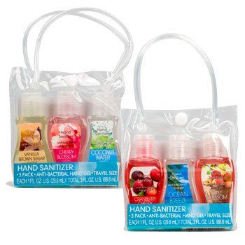 Travel Size Scented Hand Sanitizer 3 Ct Pack Travel Size
