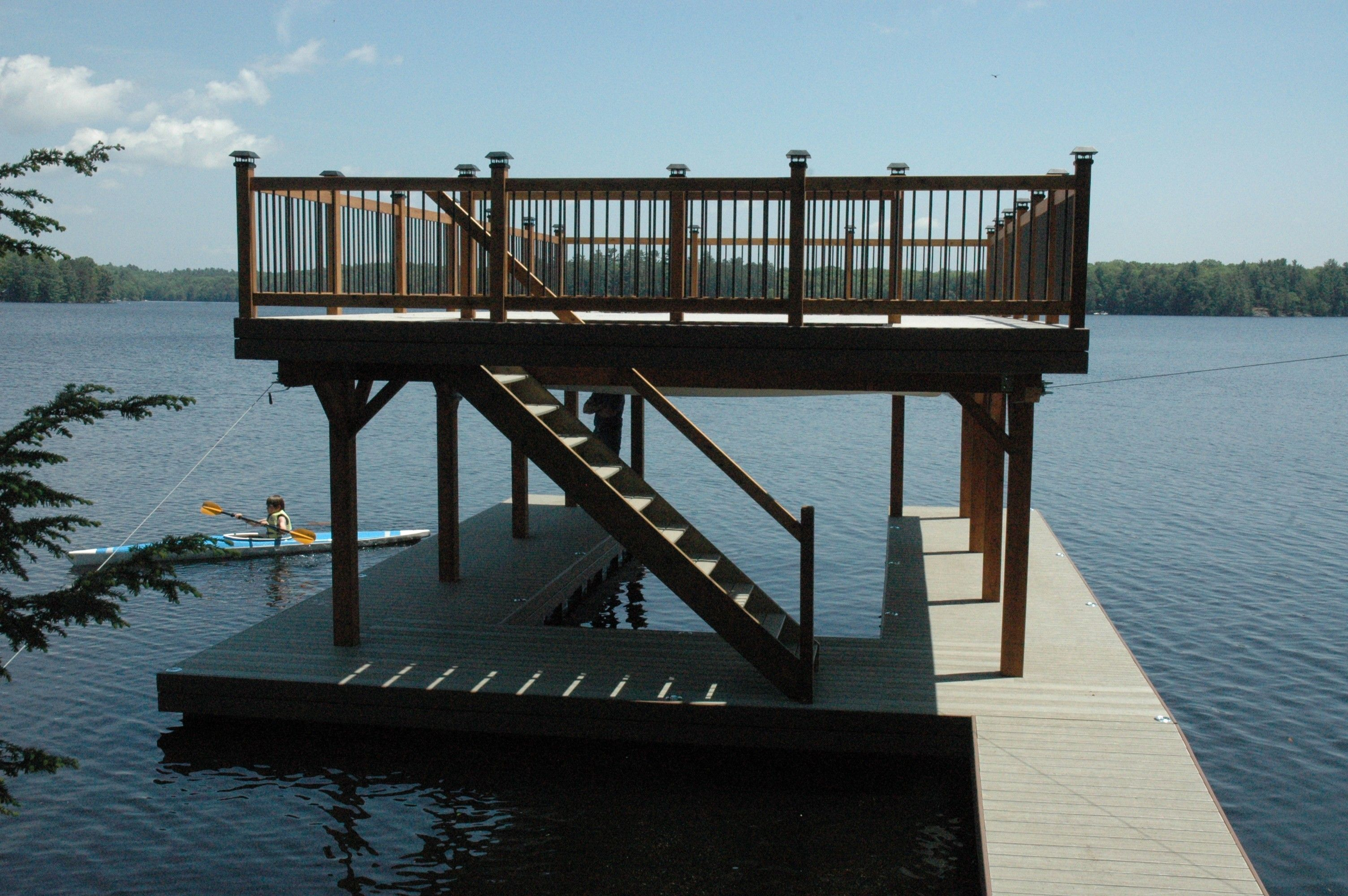 Covered boat dock plans floating boathouse lake ideas for Boat house plans pictures