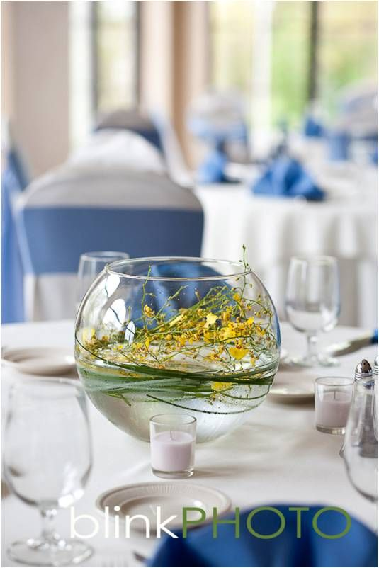 Simply Stunning Centerpiece at Spring Lake Country Club (www.springlakecc.com)