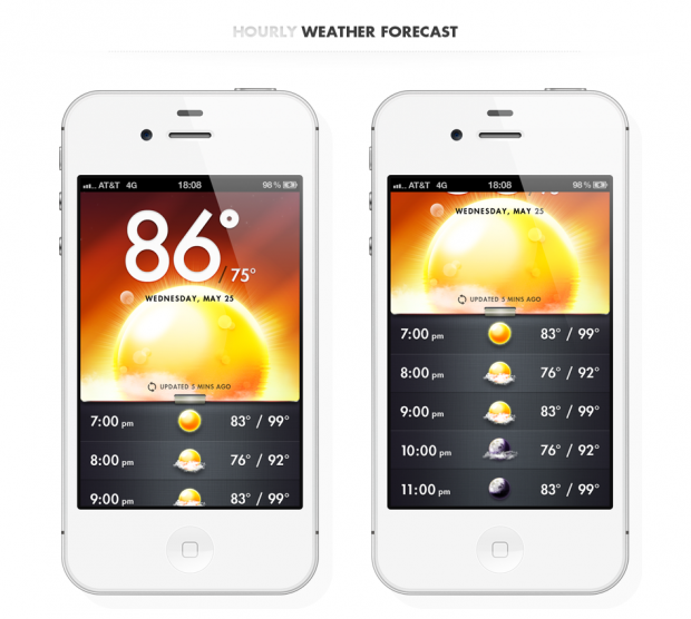 Absolutely Stunning Sky Weather App for iOS & Android