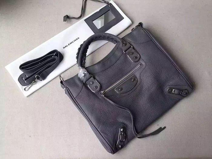 bf39dcaf5c2 Balenciaga Grey Metallic Edge Velo Bag | Balenciaga Grey Metallic ...