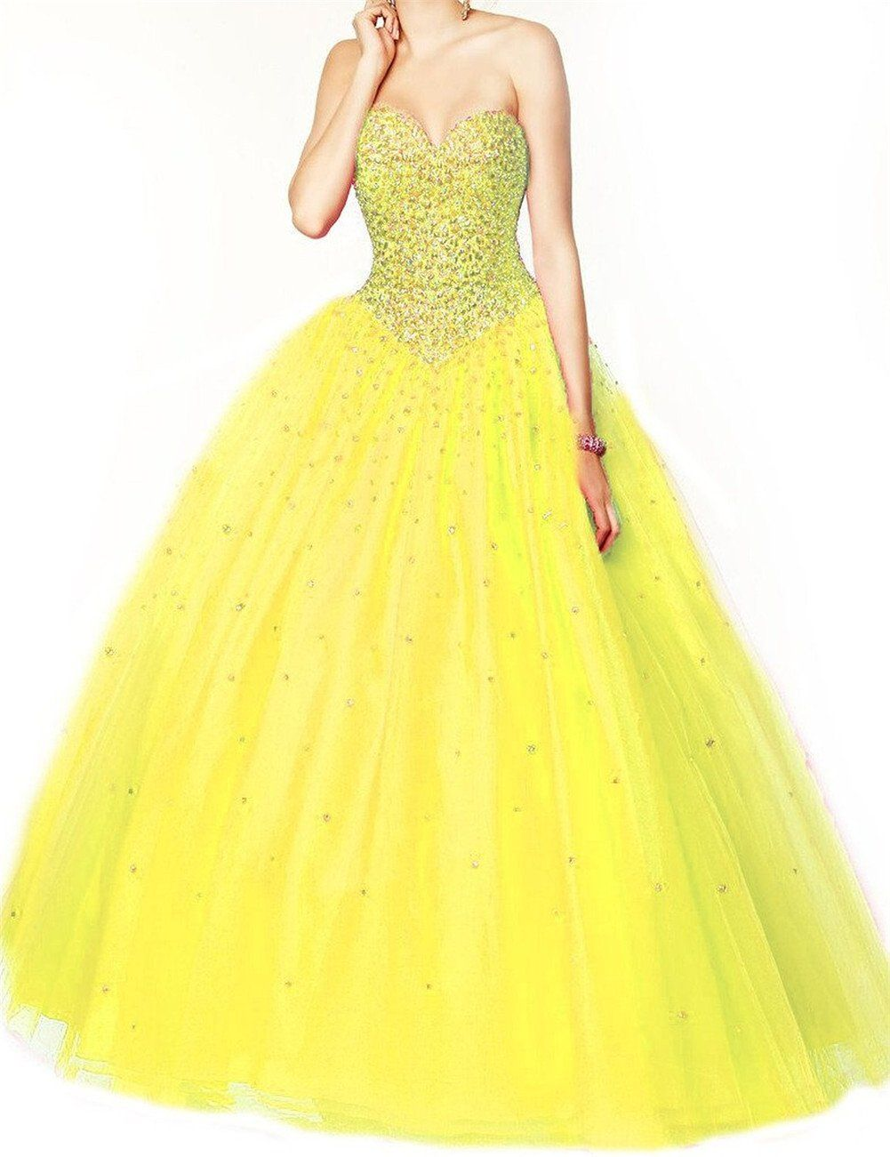 Onlinedress womenus elegant ball gown beaded long prom dress size