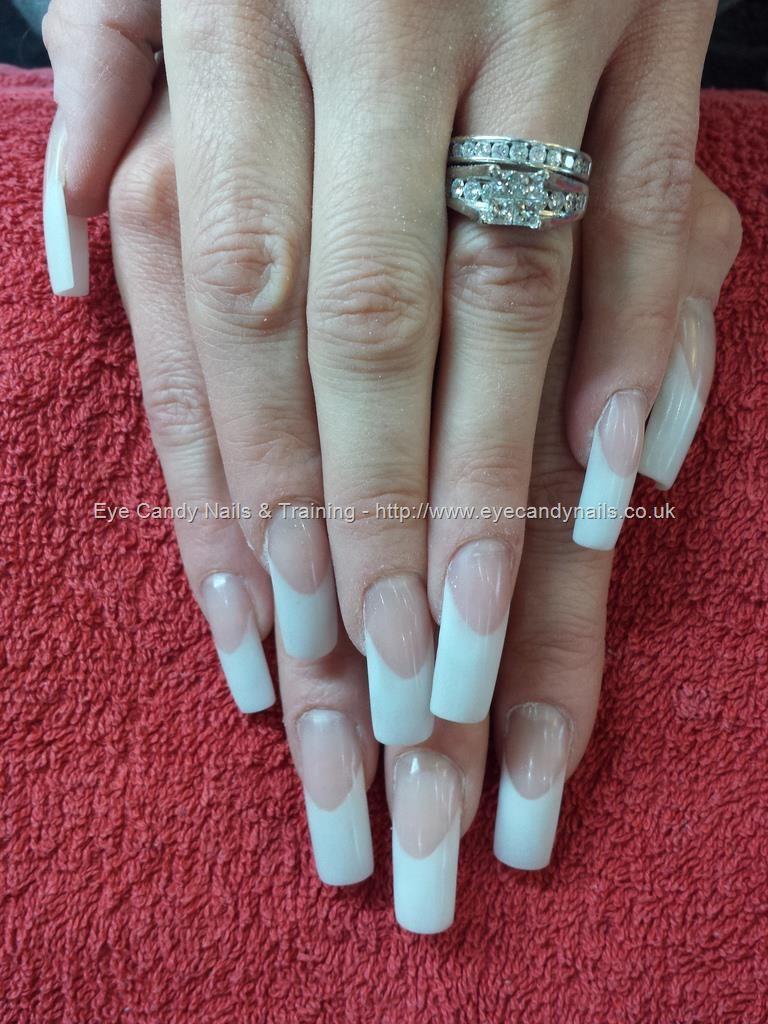 Pink and white acrylic nails #NailArt #Nails Taken at:28/03/2014 17 ...