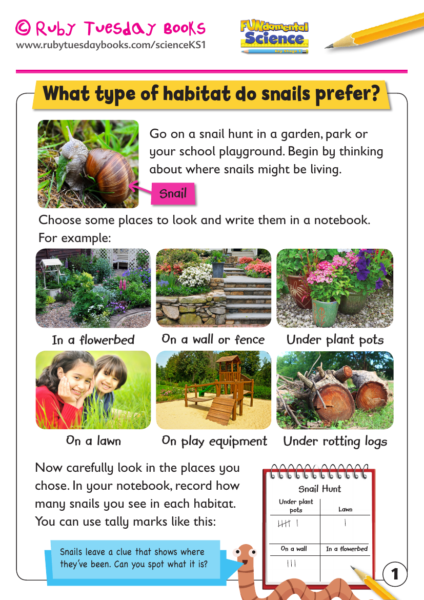 What habitats do snails prefer? by RubyTuesdayBooks