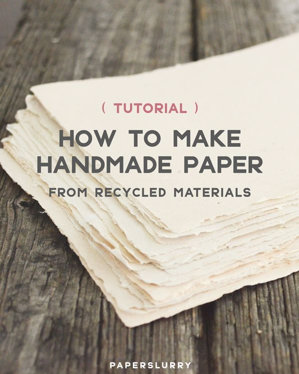 Photo of Here's How to Make Handmade Paper from Recycled Materials | Paperslurry