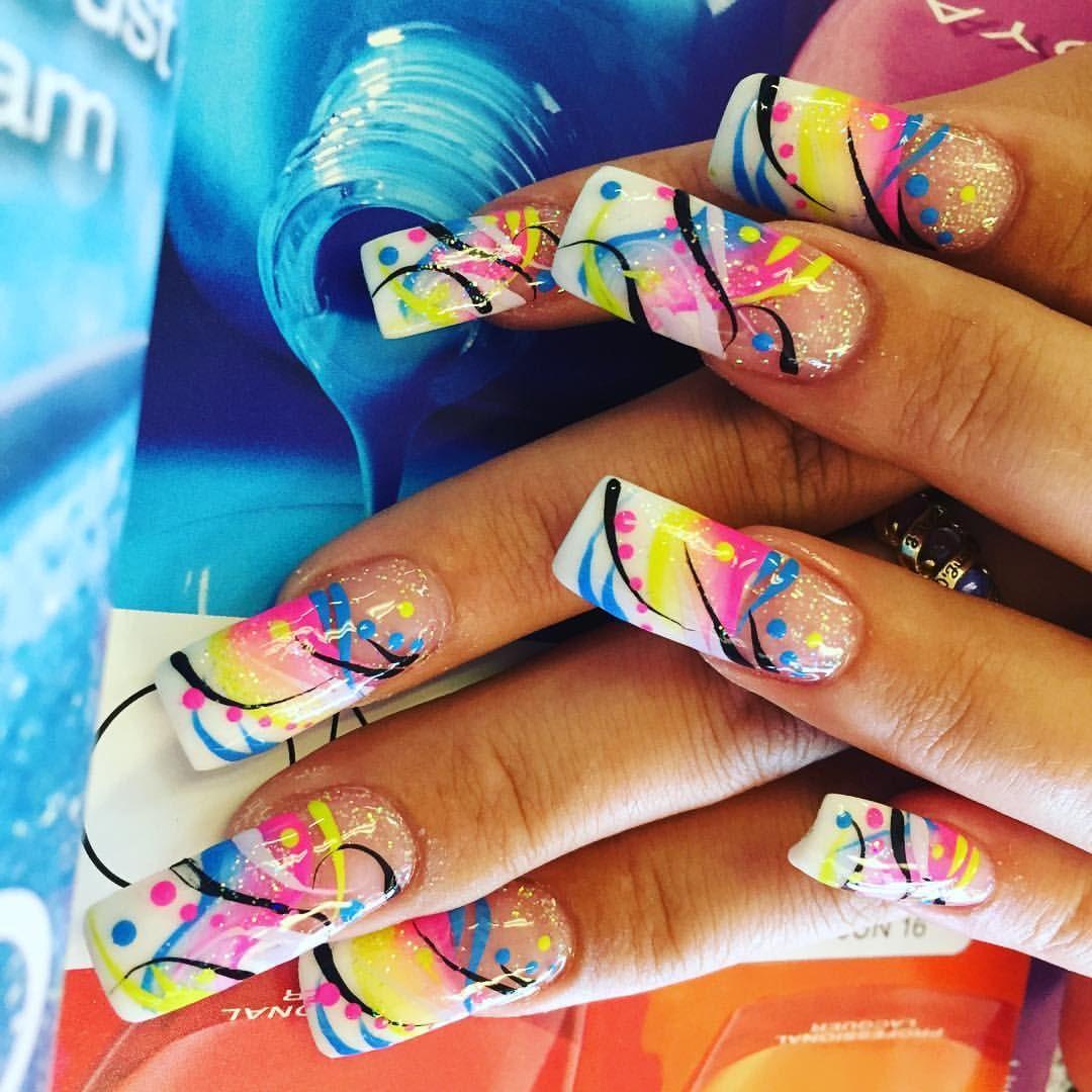 Rainbow Nails by @marysupernail | Nails Nails Nails ❤ | Pinterest ...