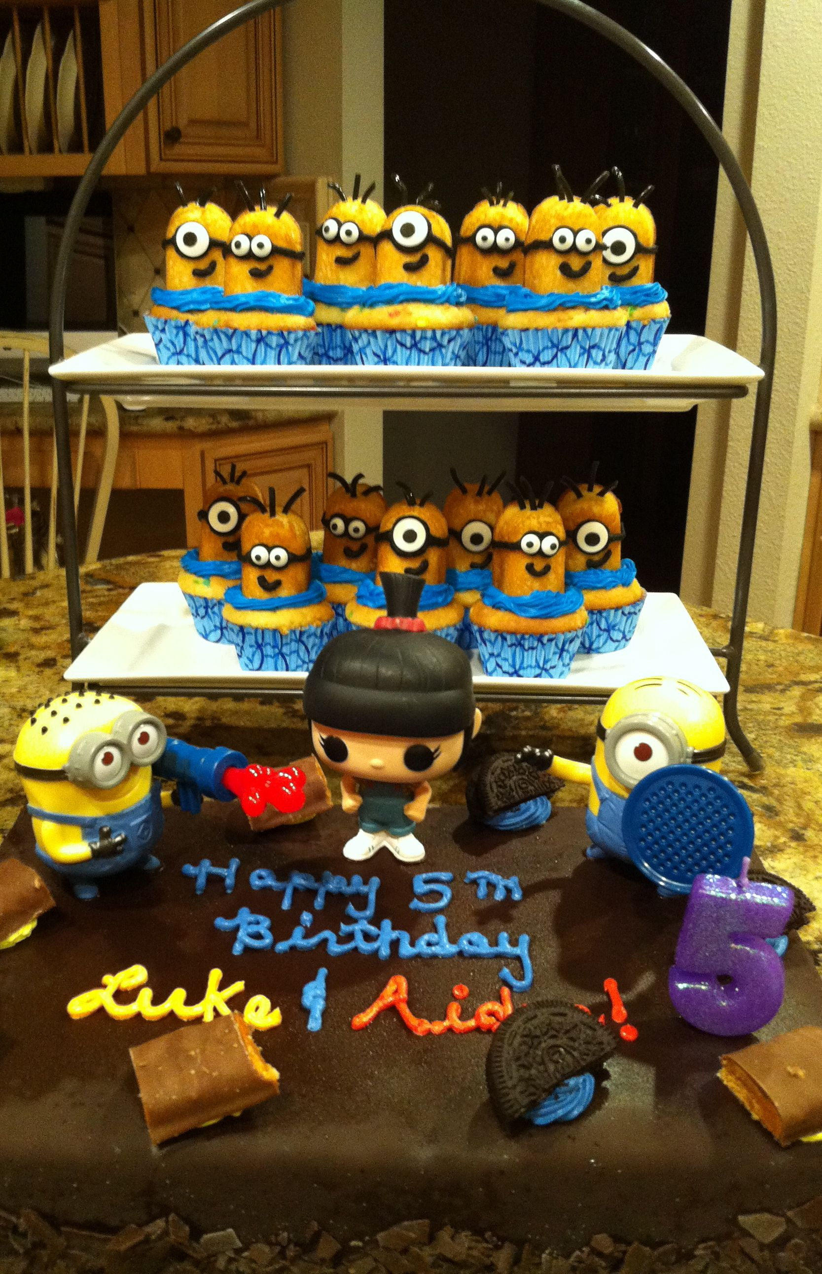 minion b day cake ice cream cake with mcdonald toys michael s