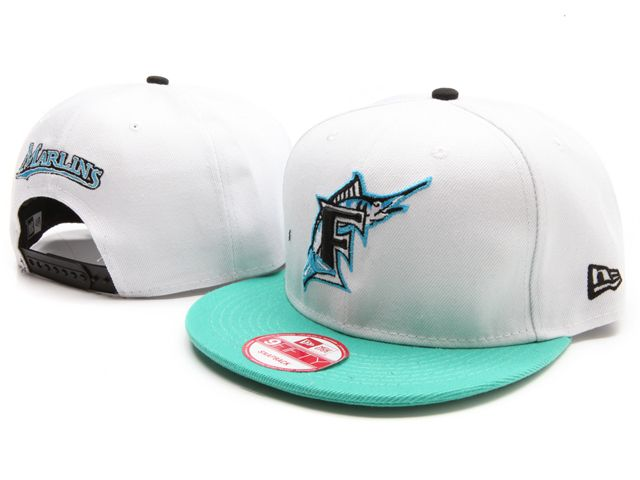 32ab042fdb3 New Era MLB Florida Marlins White Snapback Hats Caps 3491! Only  7.90USD