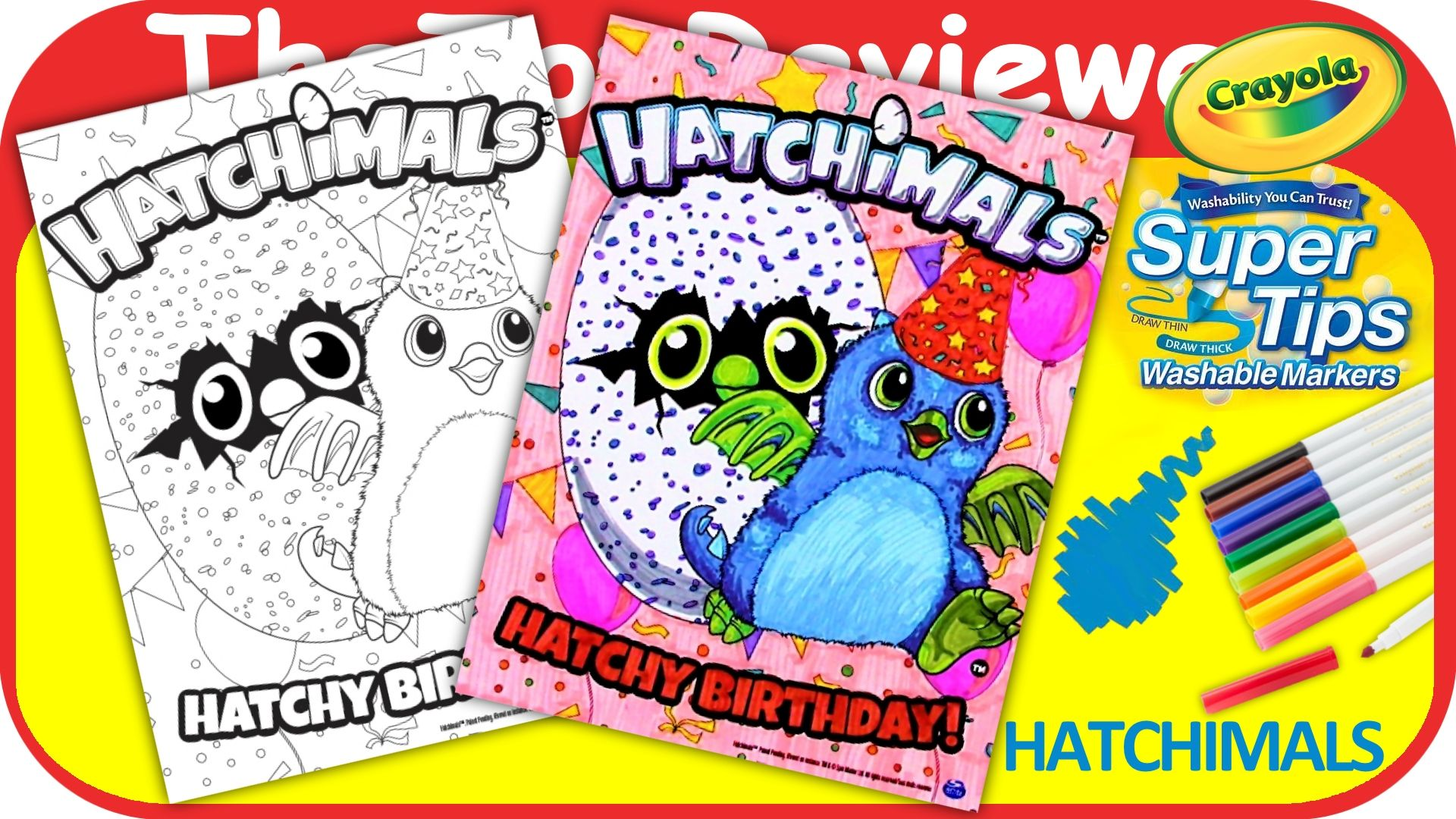 The coloring book youtube - Check Out This Hatchimals Hatchy Birthday Coloring Book Page Here Https Www