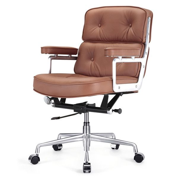 Office Chair In Brown Italian Leather