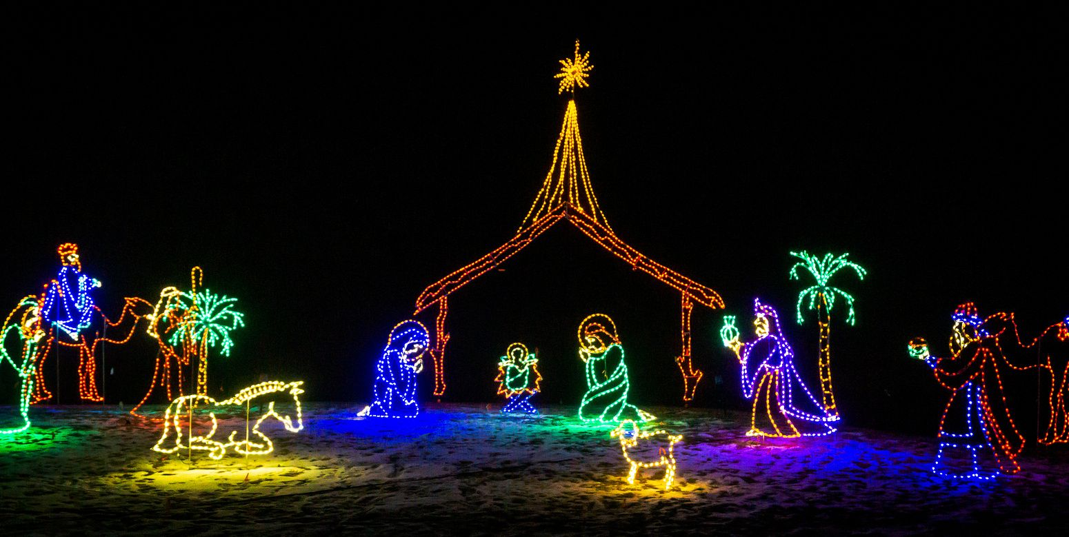 Fort Bragg Botanical Gardens Light Show