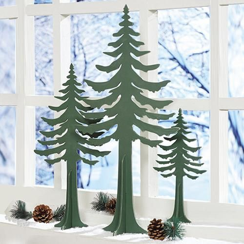 Wood Christmas Tree Cutout Wood Christmas Tree Mountain Cabin Decor Wooden Christmas Trees