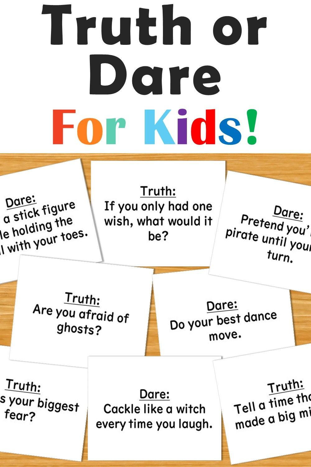Or kids truth dare for ᐅ Play