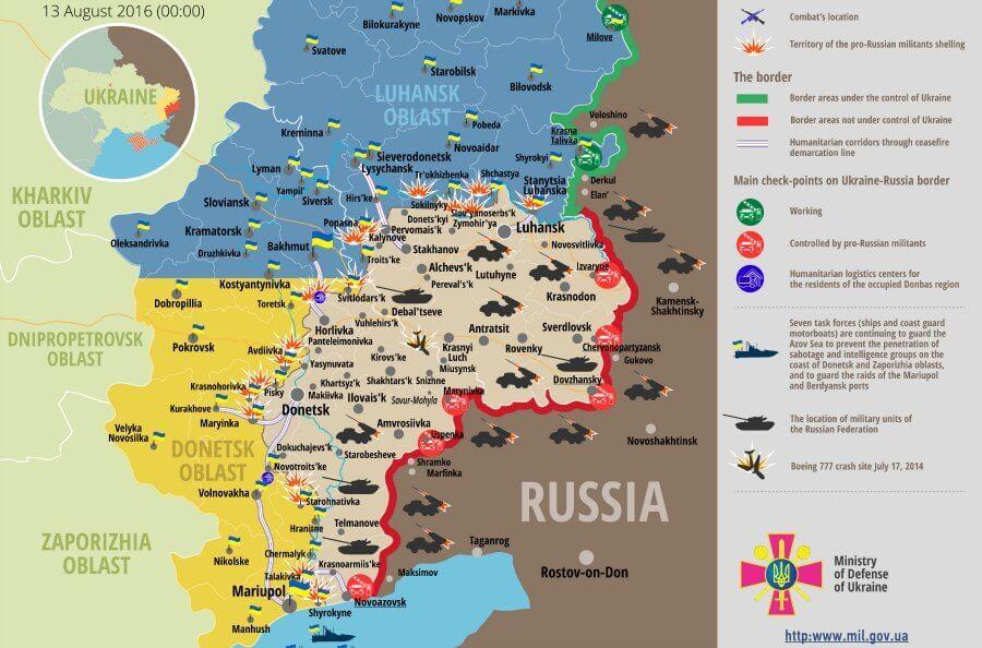 Ukraine War Updates Daily Briefings As Of August 13 2016 Karta