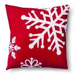 $14.99 Decorative Snowflakes Pillow -Target