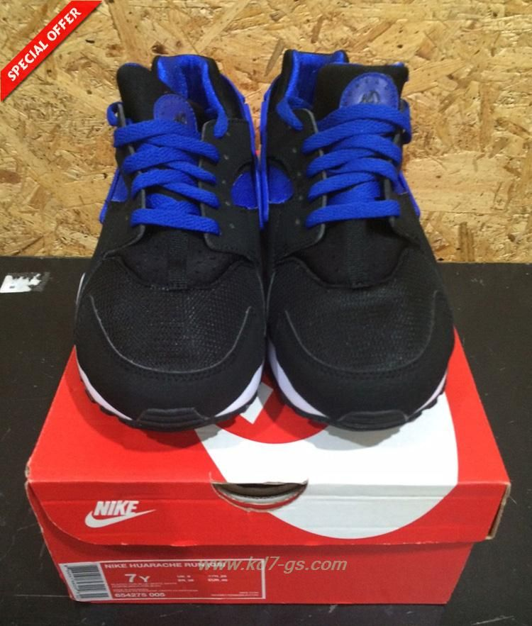 Basketball shoes online · Where To Get Black/blue Nike Air Huarache Run GS  654275-005