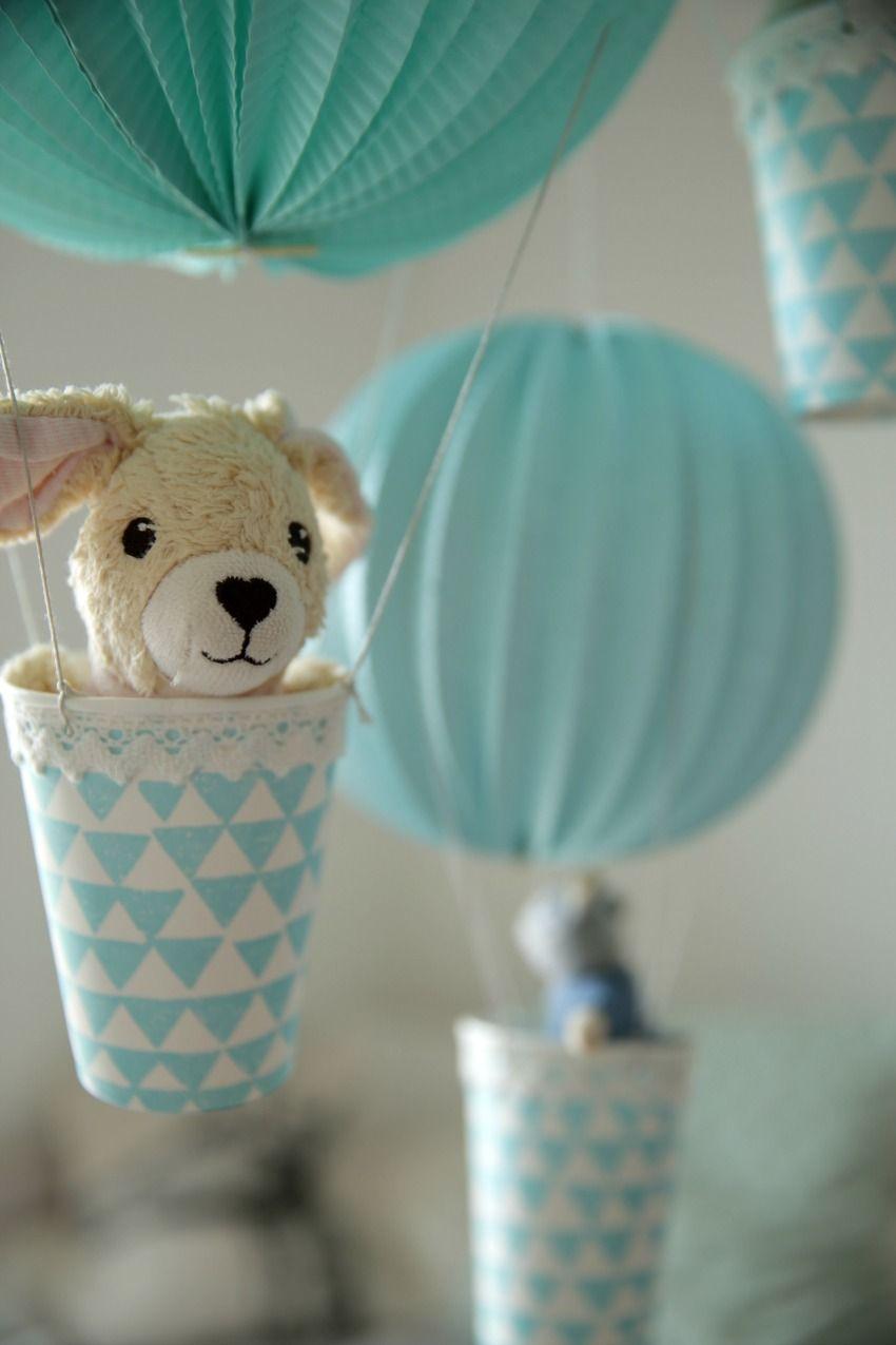 Diese Heißluftballons Im Mini Format Sind Nicht Nur Eine Hübsche Deko Füru0027s  Kinderzimmer, Sondern Auch Ruckzuck Zusammengebastelt.