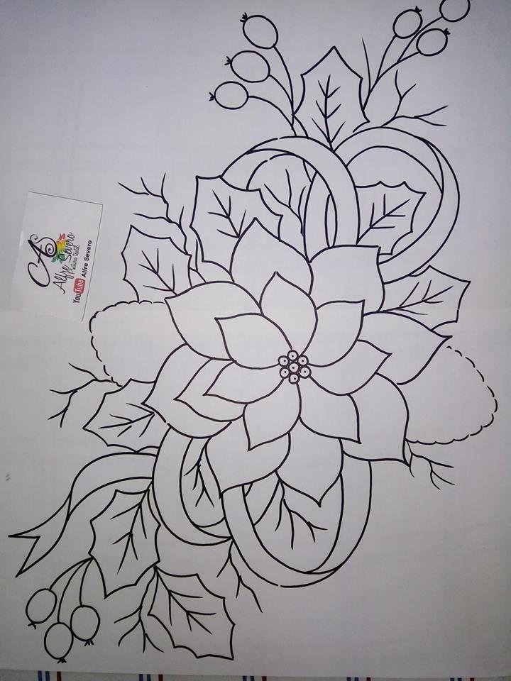 Pin de lorena en Flores | Pinterest | Bordado, Pintura en tela y Dibujo