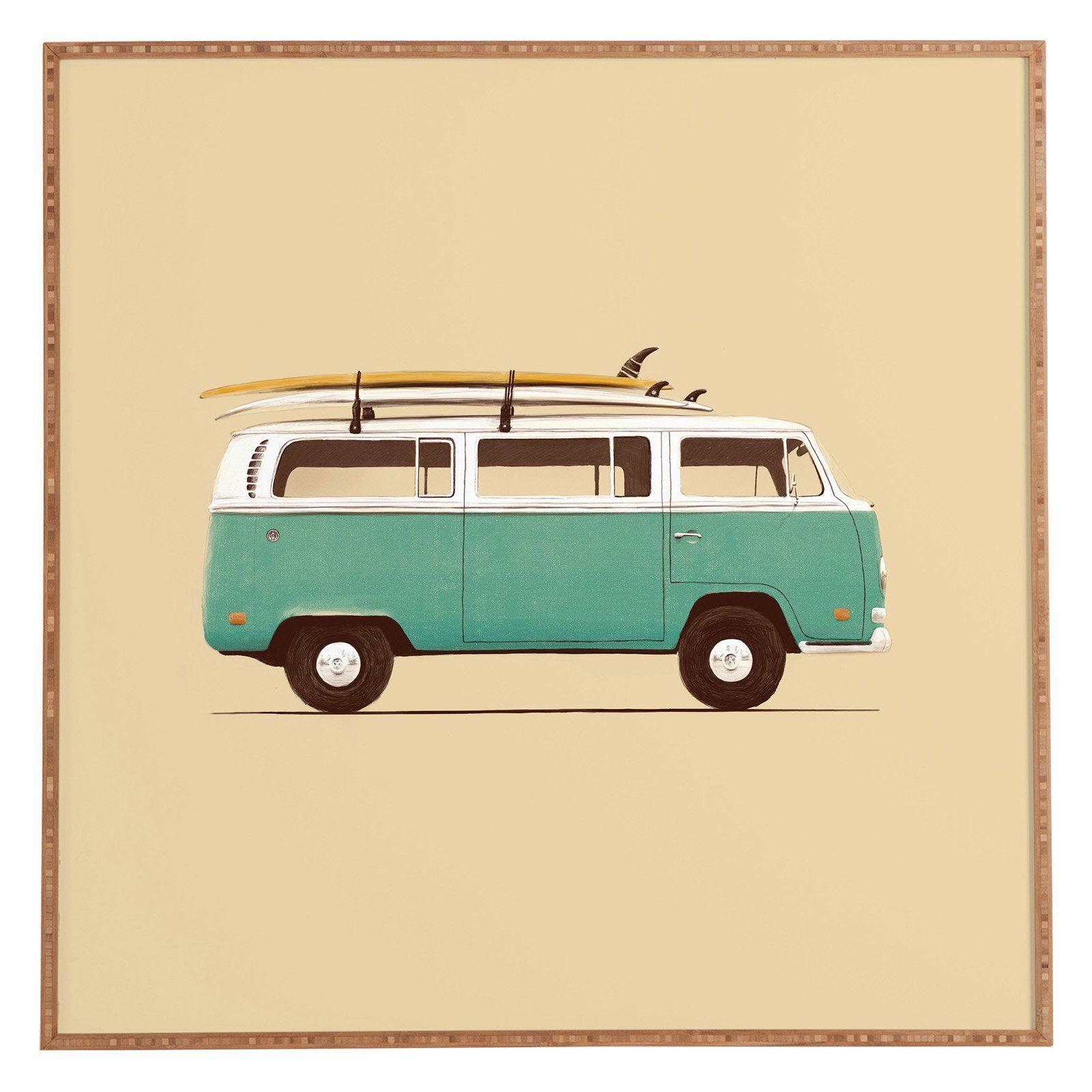 Deny Designs Florent Bodart Famous Cars 5 Blue Van Framed Wall Art ...