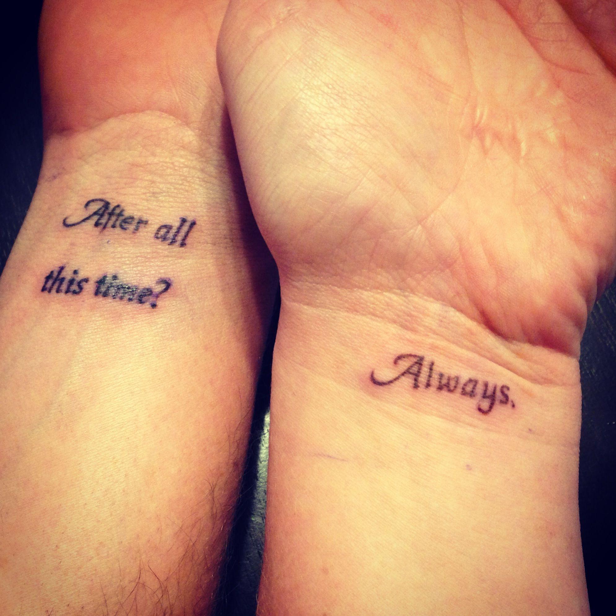 Literary Paraphernalia Literary Couple Tattoos Matching Couple Tattoos Nerd Tattoo Married Couple Tattoos
