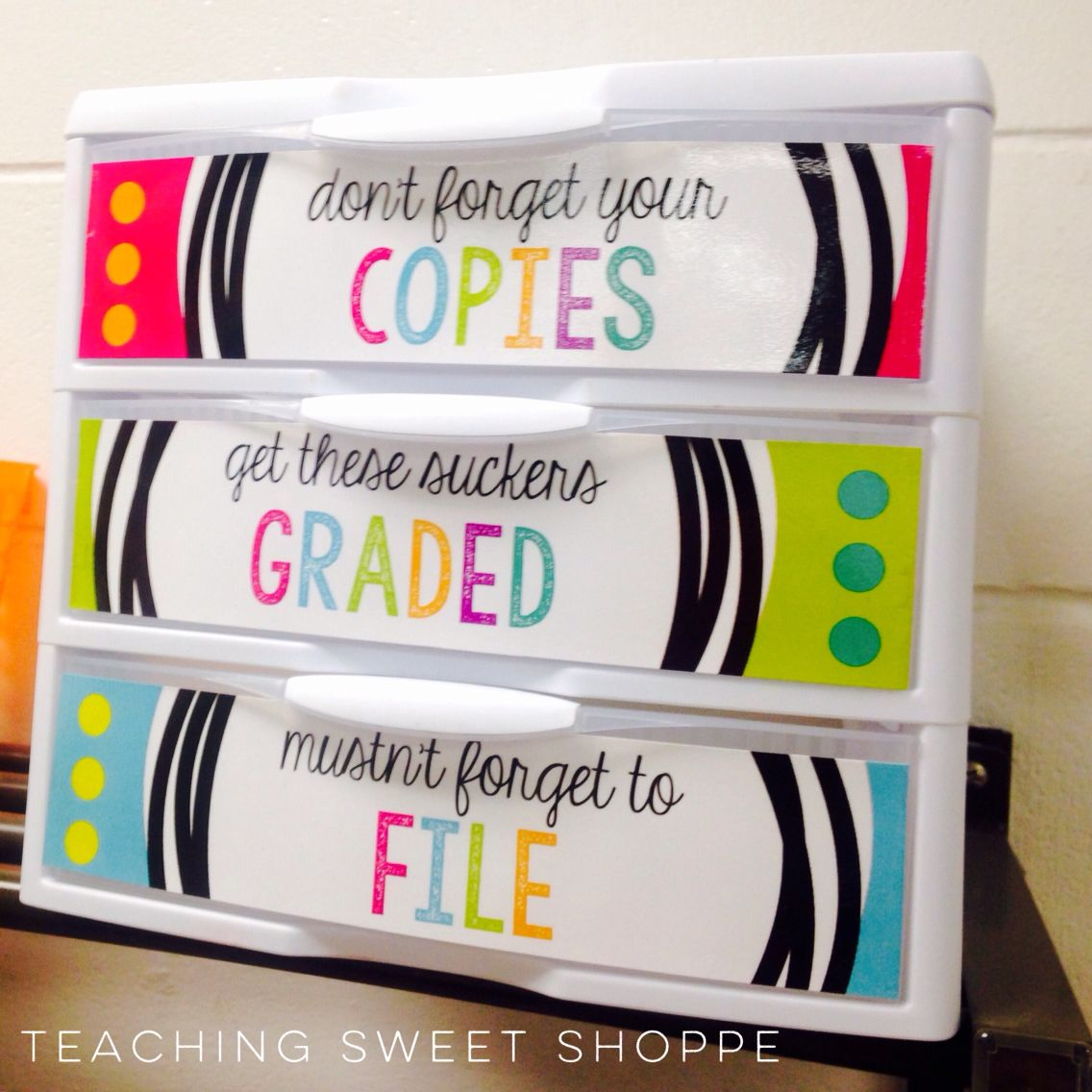 OPERATION ORGANIZATION: FREE Copy, Grade, And File Labels