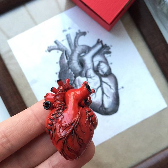 Anatomical Heart Necklace Human Heart my person Gift for doctor ...