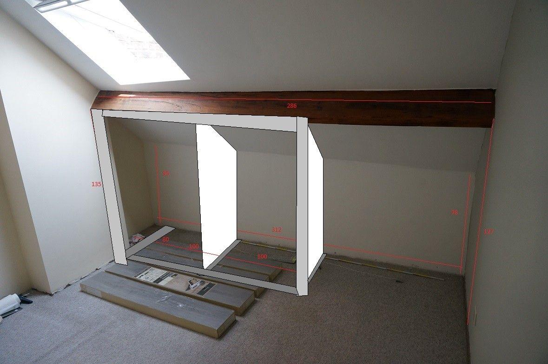 Porte Coulissante Pour Sous Pente Comble Mes Combles In 2020 Home Decor Home Furniture