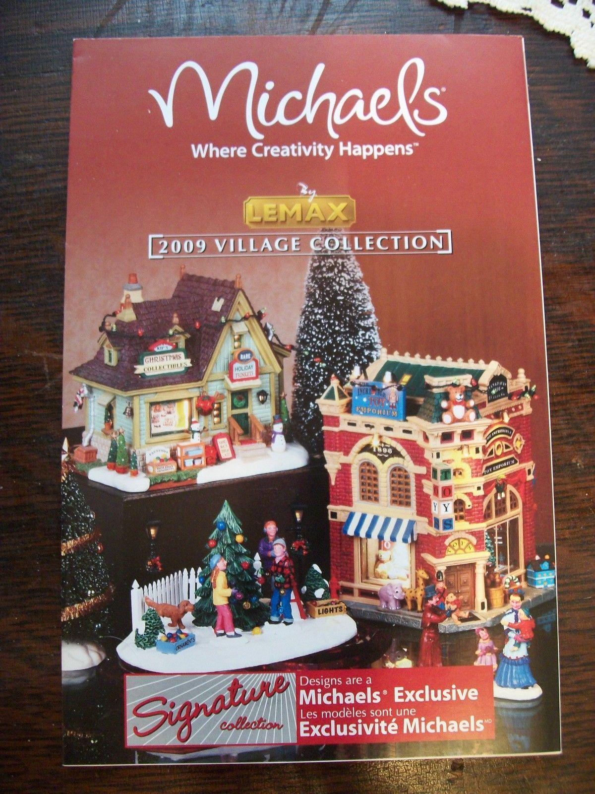 lemax michaels christmas village 2009 product brochure catalog - Michaels Christmas Village