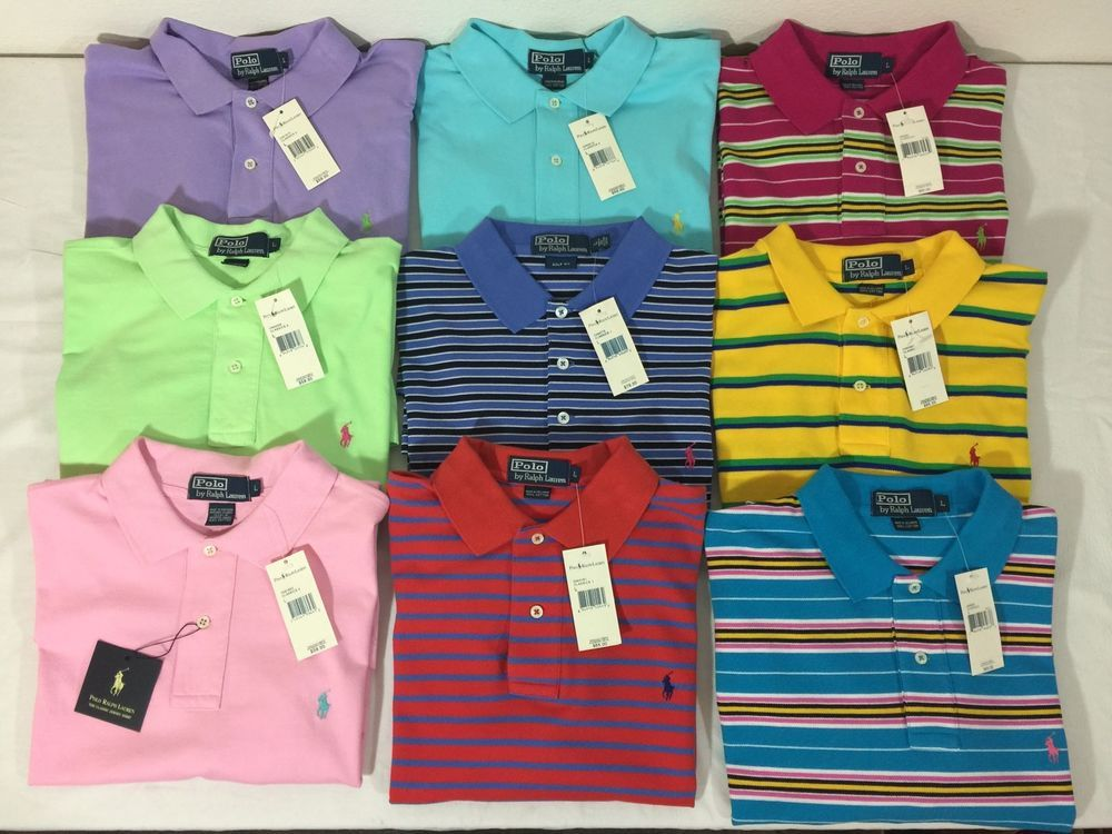Brand New Ralph Lauren Polo Short Sleeve Shirts Lot of 9 Size Large WITH  TAGS  PoloRalphLauren  PoloRugby  6740f9a6c