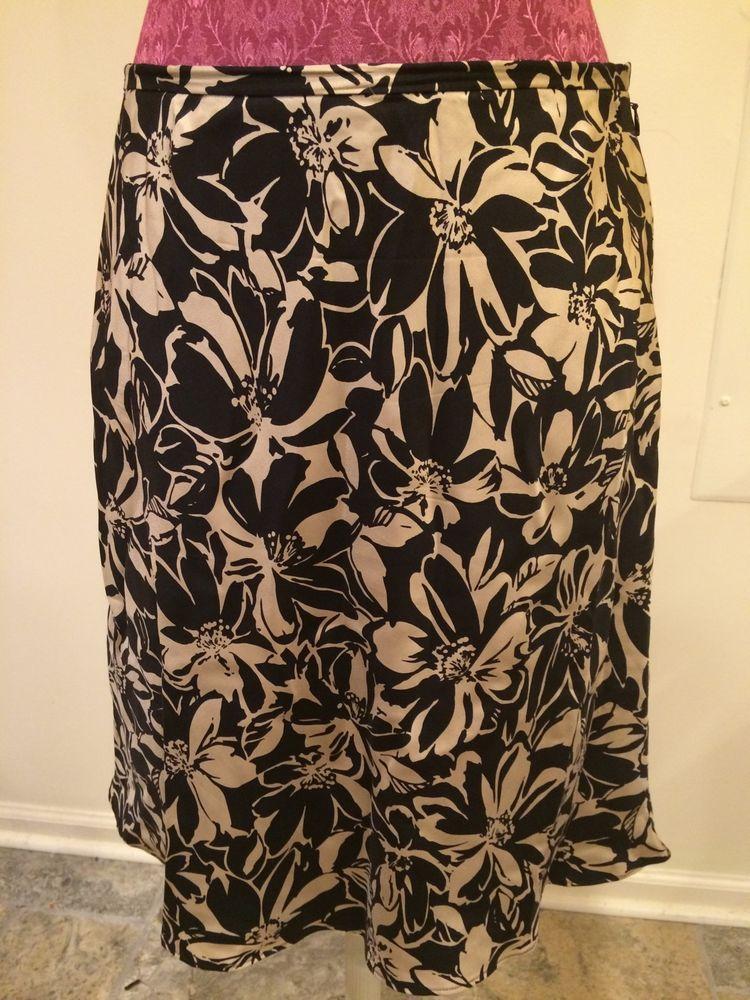 Ann Taylor Petites Skirt Size 12 P 100 Silk | eBay