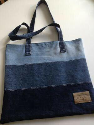 Bolsas de Jeans: Artesanato e Reciclagem + Corte e Costura Criativa