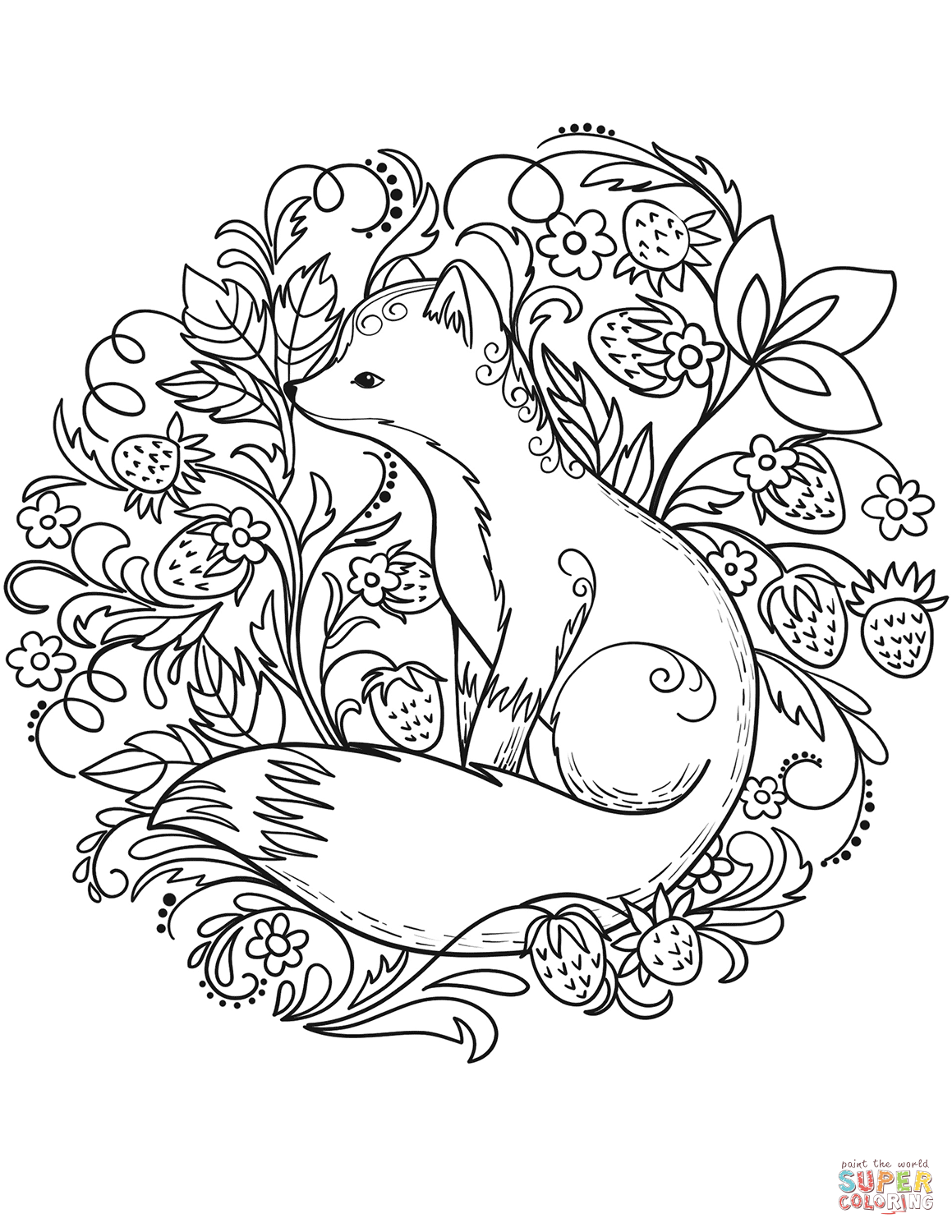 Fox Coloring Page From Red Fox Category Select From 27968 Printable Crafts Of Cartoons Nature Anim In 2020 Fox Coloring Page Coloring Pages Valentine Coloring Pages