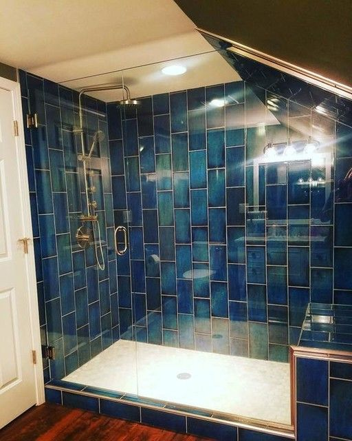 Catania Blue 6 X 12 In The Tile Shop Blue Bathroom