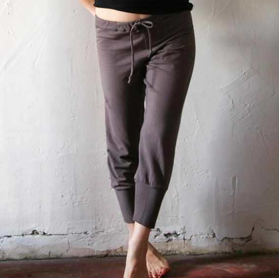 Womens Lounge Pants In French Terry With Drawstring And
