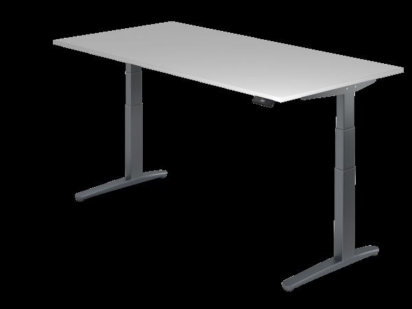 Sitz Steh Schreibtisch Elektrisch 200x100cm Graphit Graphit Schreibtisch Elektrischer Schreibtisch Elektrisch Hohenverstellbarer Schreibtisch