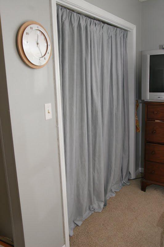 Closet Curtains Take Two Curtains For Closet Doors Closet