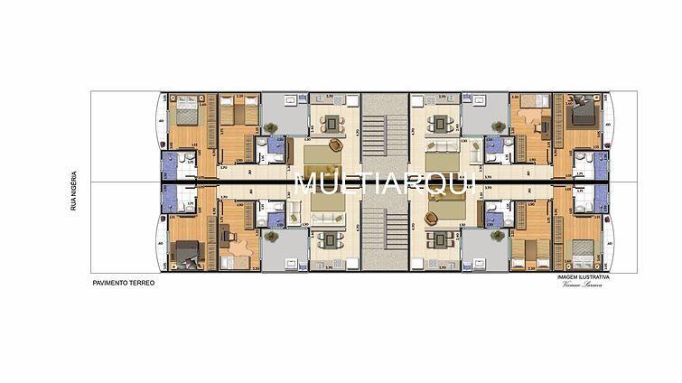Layout apartamentos de 50 m²