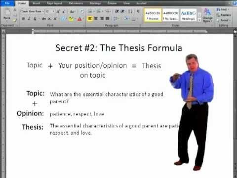 The FiveParagraph Essay Three Formulas For Writing The Basic