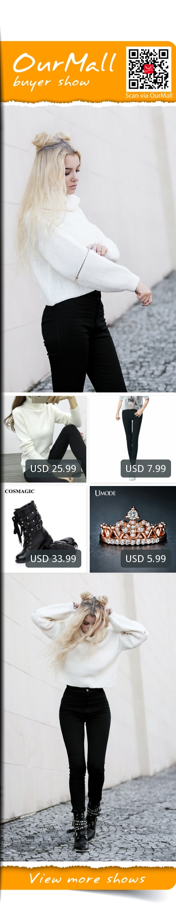 This is Kristina Dolinskaya's buyer show in OurMall;  1.Women Turtleneck Sweater 2016 Winter Warm Pullover White Pink 8 Colors Jumper High 2.work pants High stretch cotton ladies pencil pants black White 3.Women Buckle Winter Motorcycle Martin Boots British Style Gothic Punk Thick W... please click the picture for detail. http://ourmall.com/?YZbuem #sweater #sexysweater #sweaterforwomen #sweaterforgirls #springsweater #graysweater #cutesweater #refashionsweater