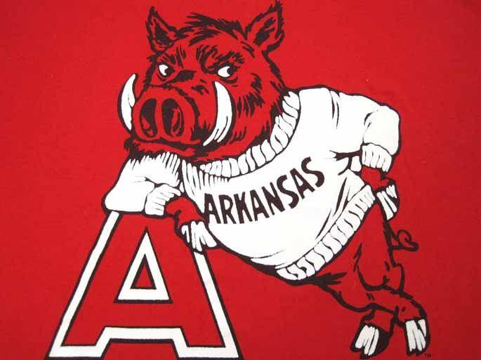 Razorbacks Old School Mascot Design Arkansas Arkansas Razorbacks