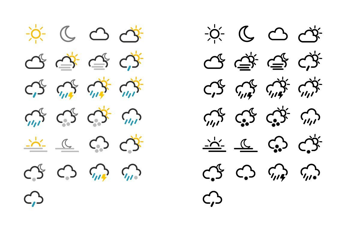 Weather icon pack [vector, svg, png] Weather icons, Icon